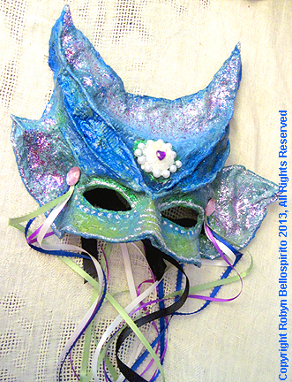 Papier-mache mask
