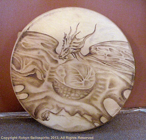 art sacred drum painting spirituality shamanism dragon