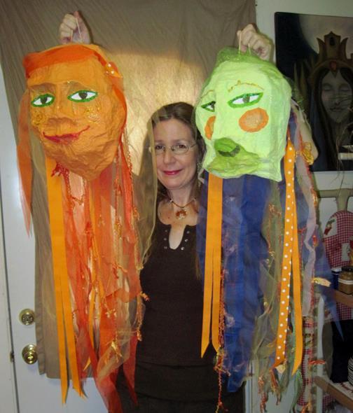 Papier Mache Heads for Gingerella