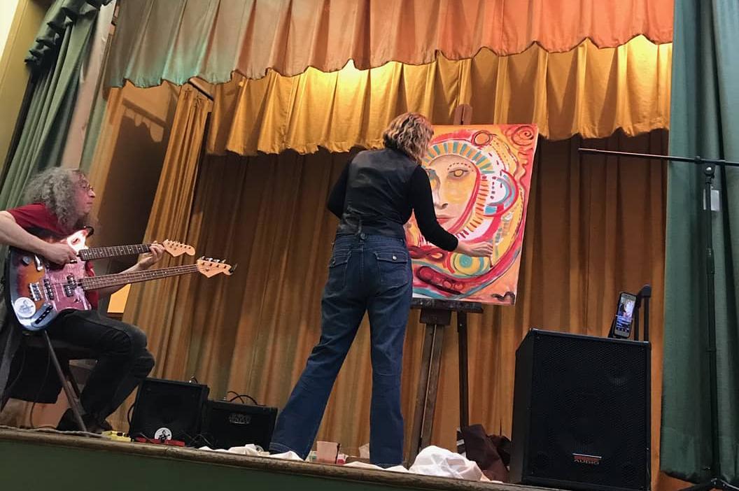 "Musician Jimi Durso ""Twang"" and Artist Robyn Bellospirito"