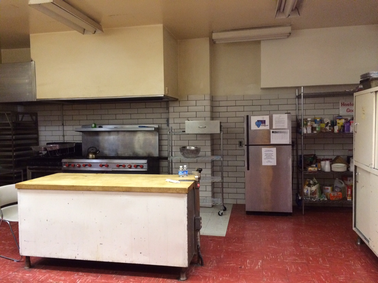 Kitchen Space for Hostel Groups
