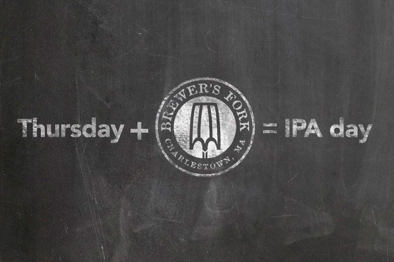 Drink hops with friends! On National IPA Day, Brewer's Fork will be pouring 21 hoppy offerings from a selections of breweries across the country!The list will include Cutting Tiles, Double Dry Hopped Scaled & Pocket Pigeon from Trillium.