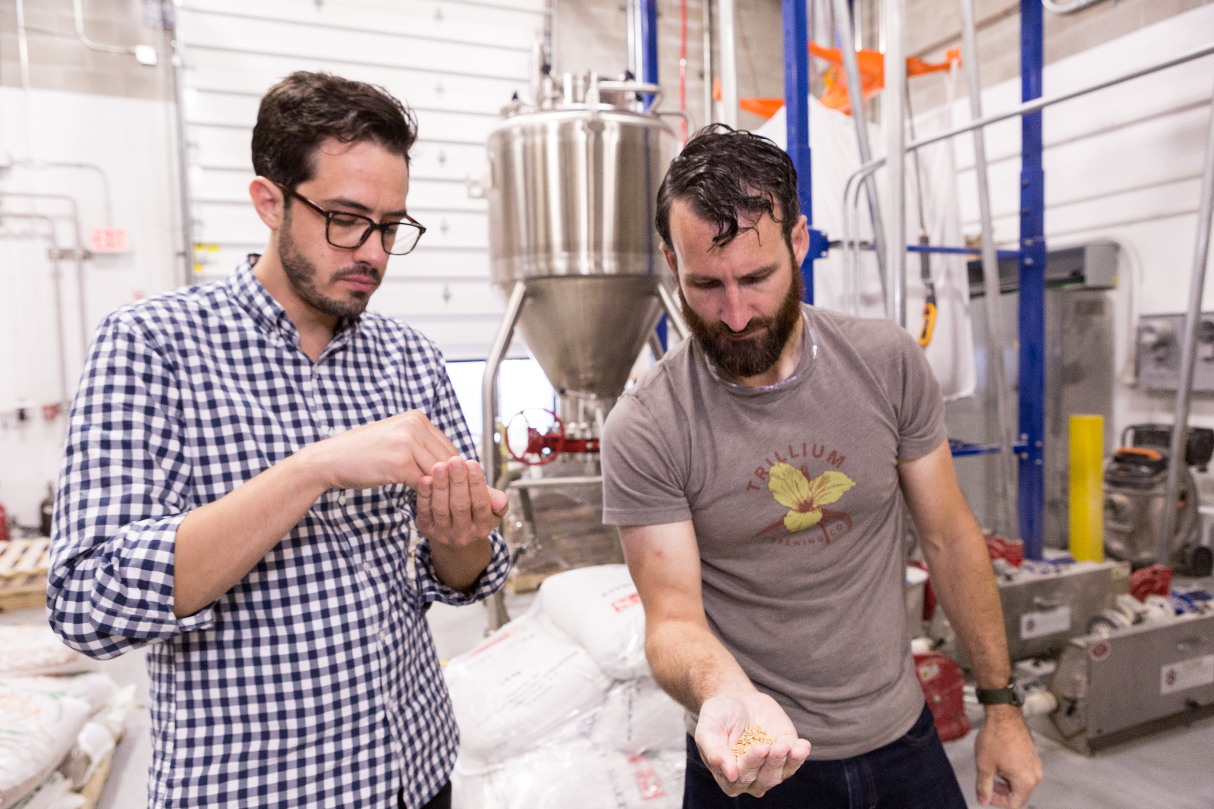 The Cook's Illustrated team visits Trillium on brew day