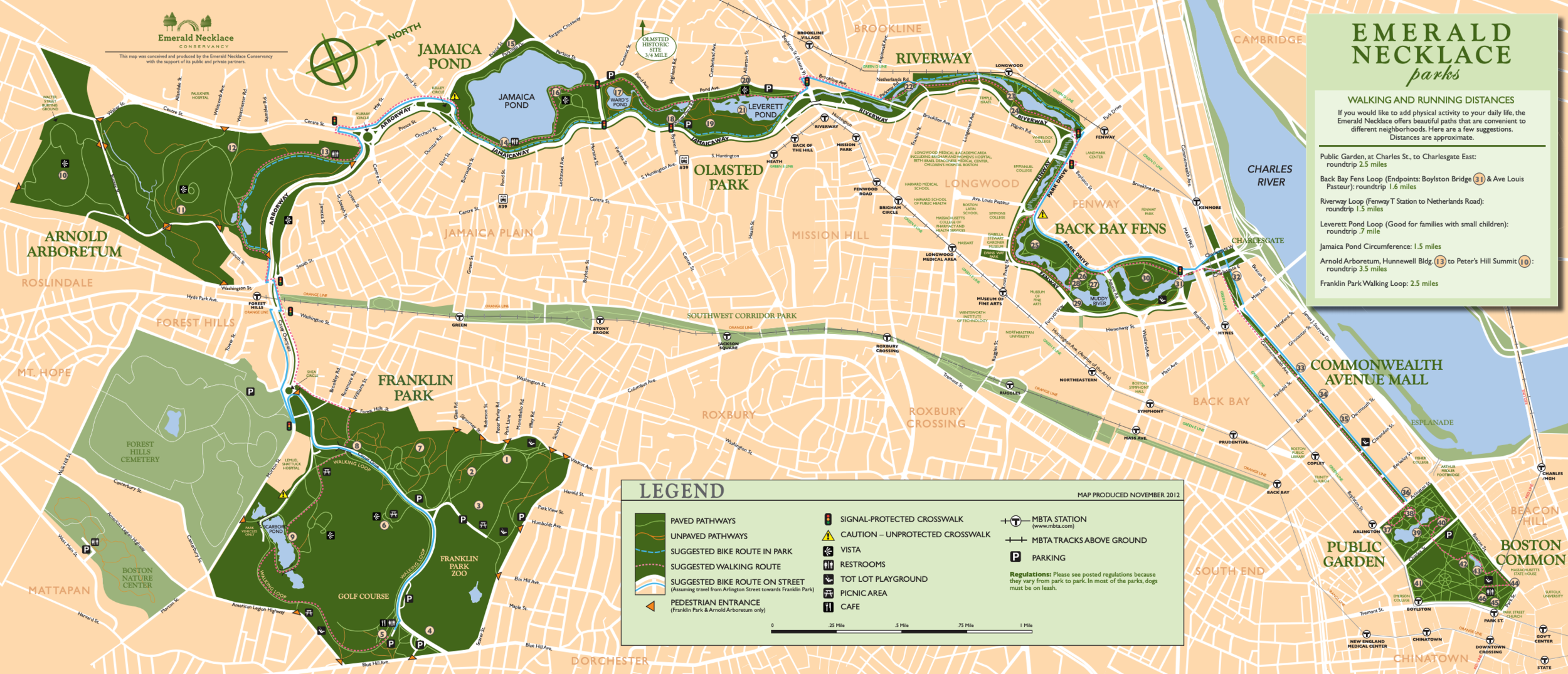 Map Courtesy Emerald Necklace Conservancy
