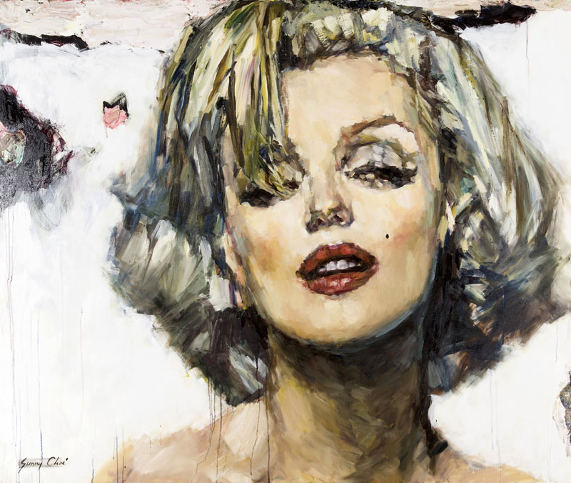 Marilyn, Candle in the Wind - 60 x 72 inches, Oil and Acrylic on Canvas