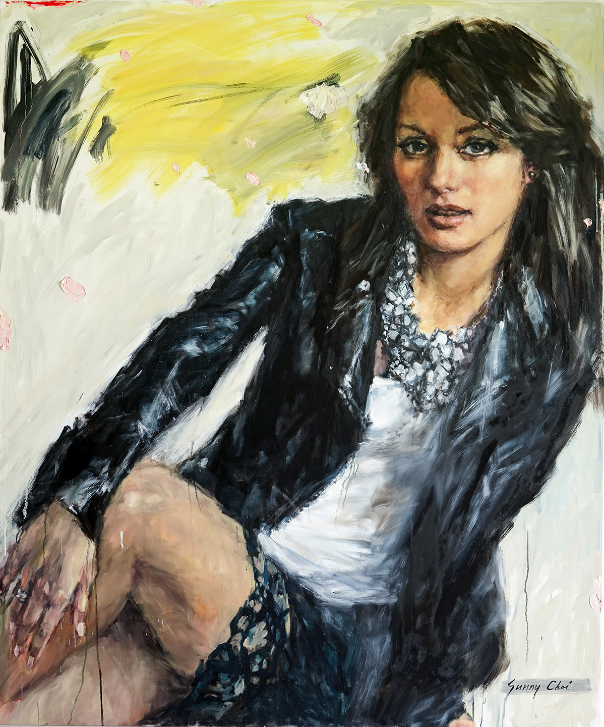 Sitting Pretty - 60 x 72 inches, Oil and Acrylic on Canvas
