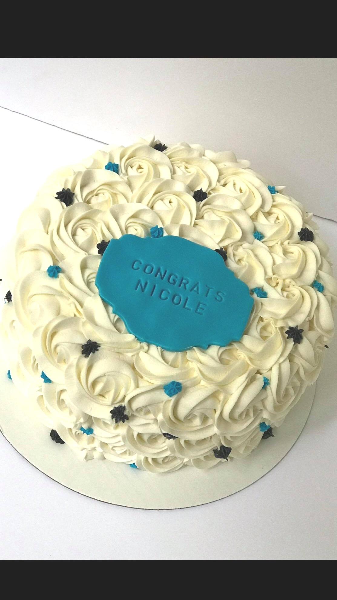 Rosette Graduate Cake - 8 inch $609 inch $70