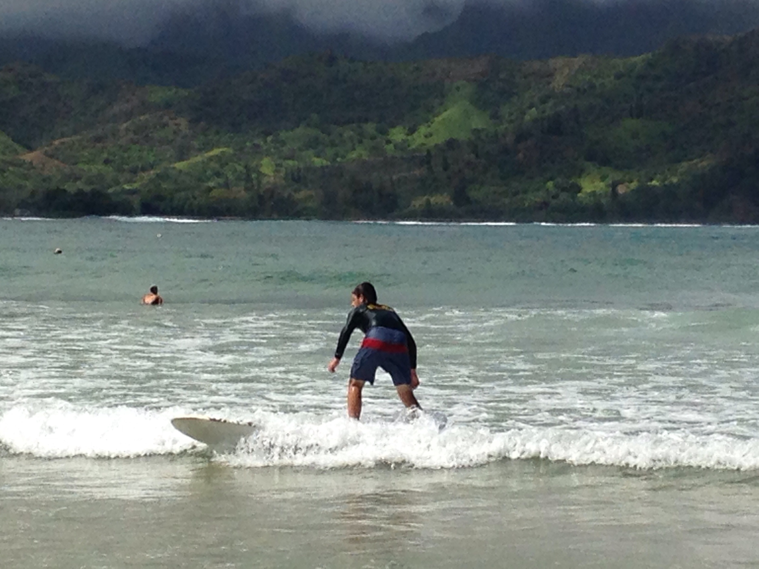 Surfing Hanalei Bay // Kaua'i, Hawaii