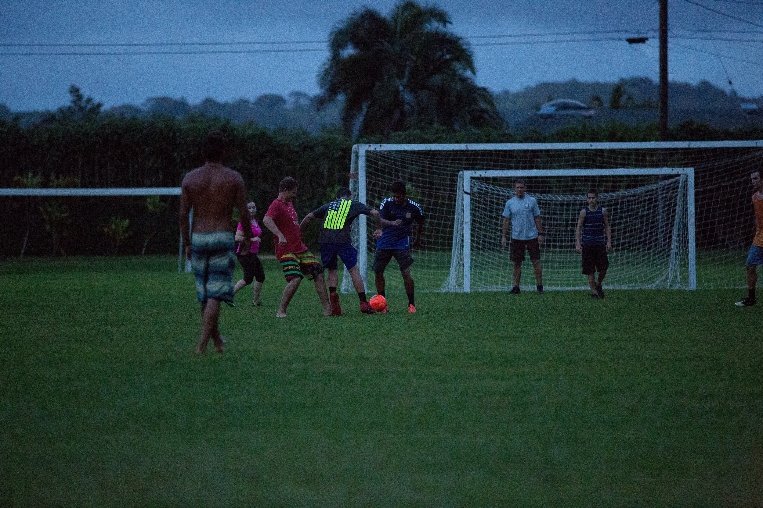 Soccer with the locals // Hanalei