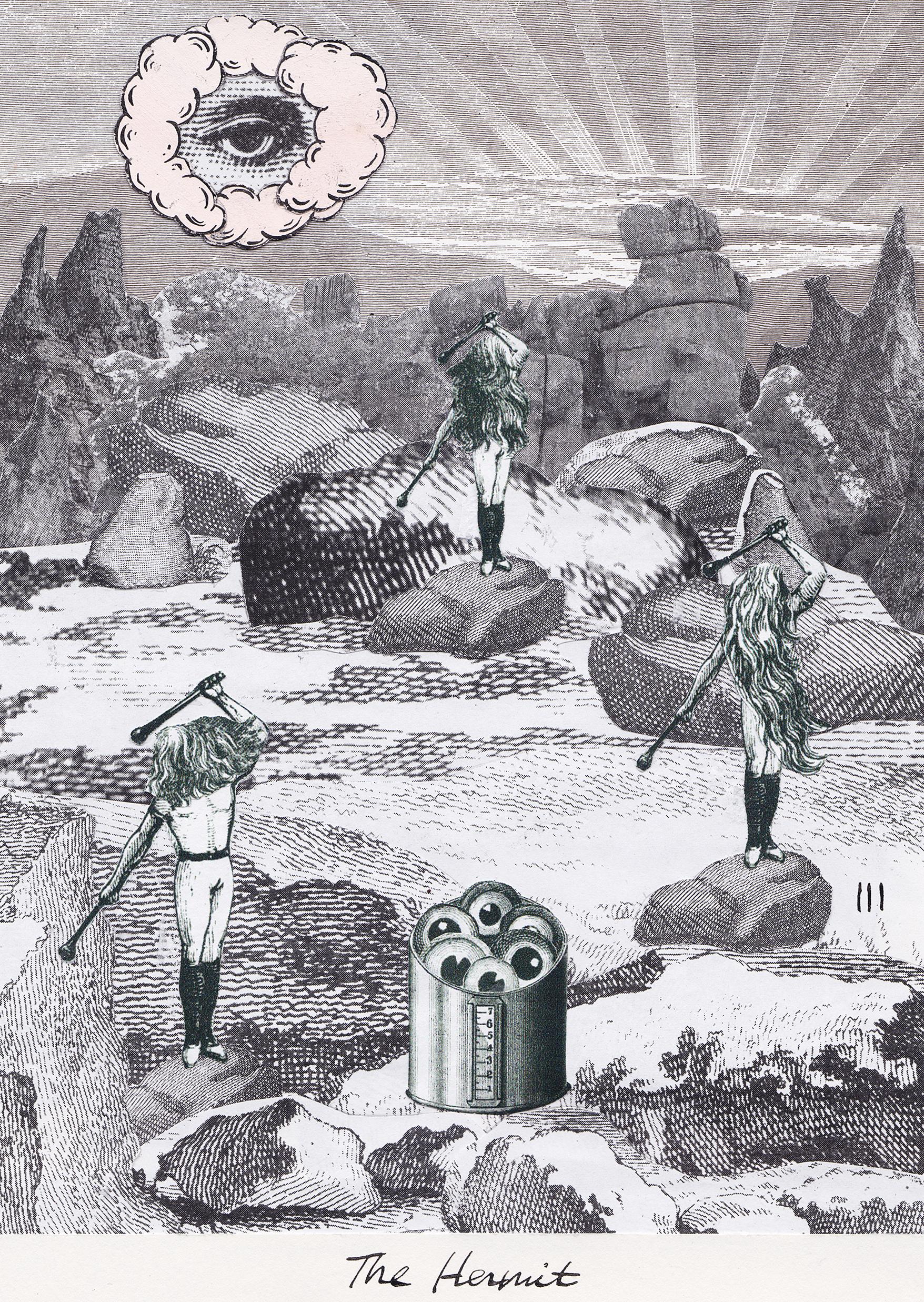 The Hermit, Collage Giclée print on Hahnemühle Photo Rag, 21x14.8cm