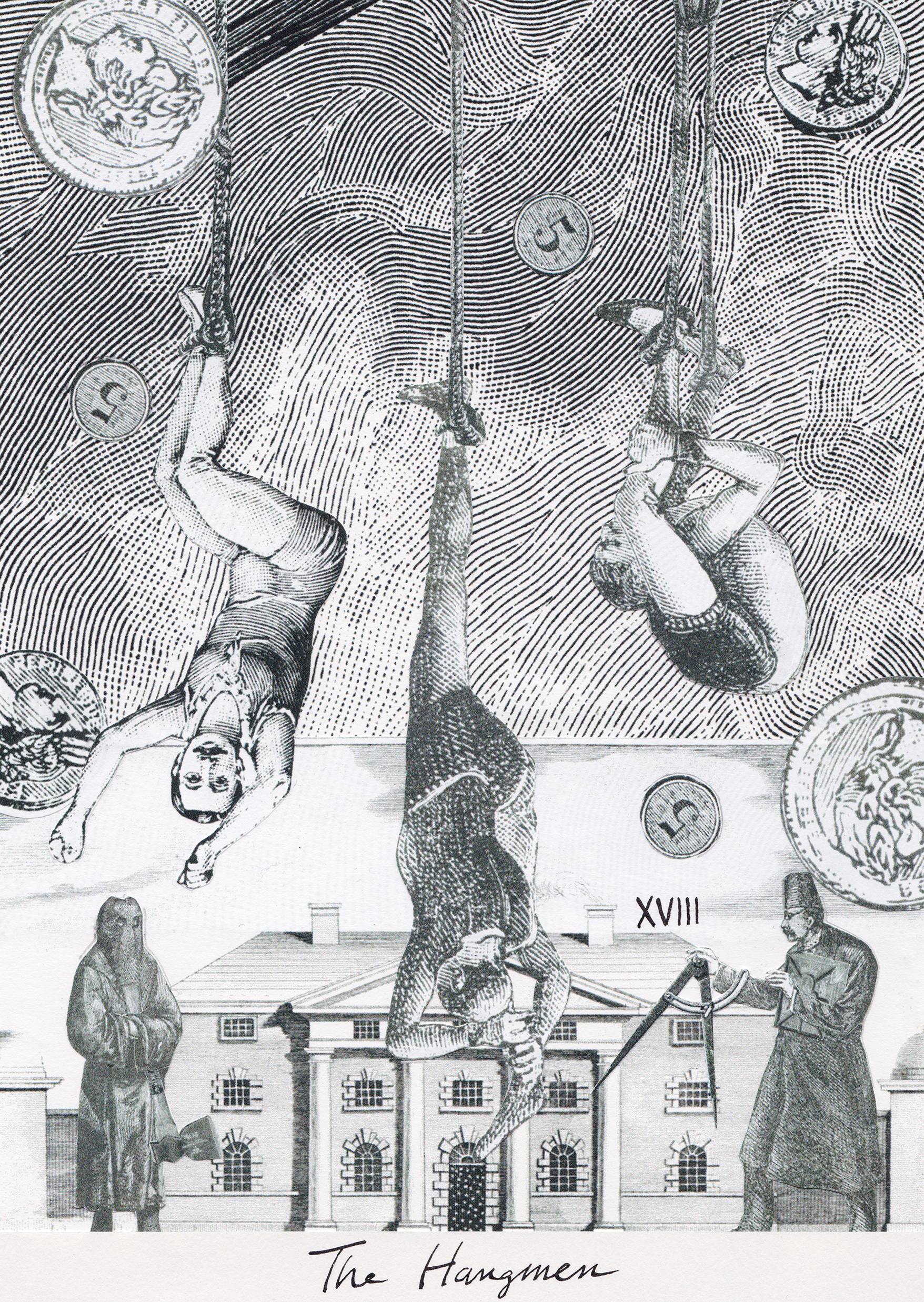The Hangmen, Collage Giclée print on Hahnemühle Photo Rag, 21x14.8cm
