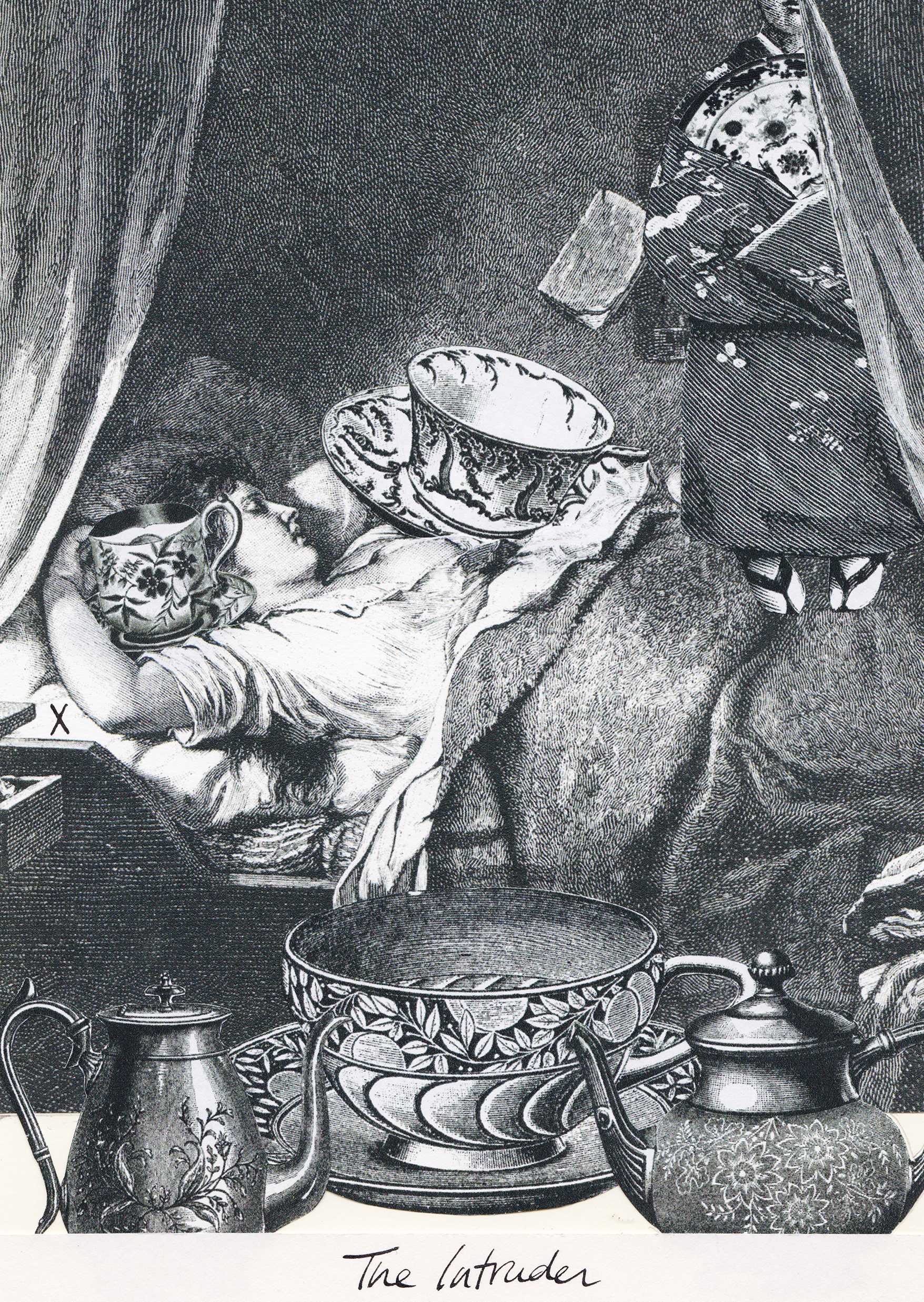 The Intruder, Collage Giclée print on Hahnemühle Photo Rag, 21x14.8cm