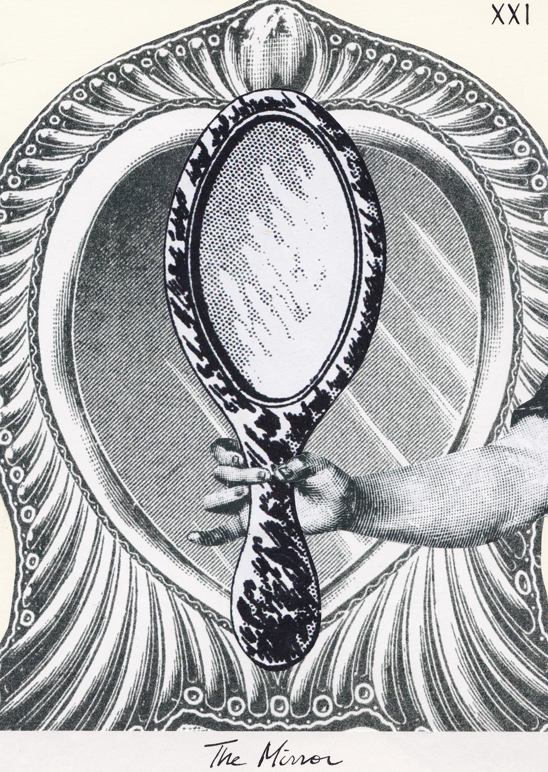 The Mirror, Collage Giclée print on Hahnemühle Photo Rag, 21x14.8cm
