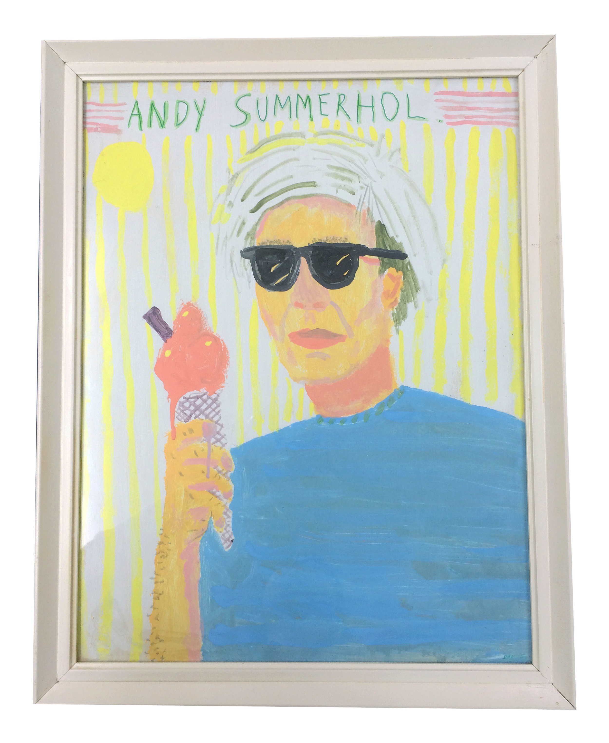 Andy Summerhol, House paint and acrylic on paper, 60x47cm