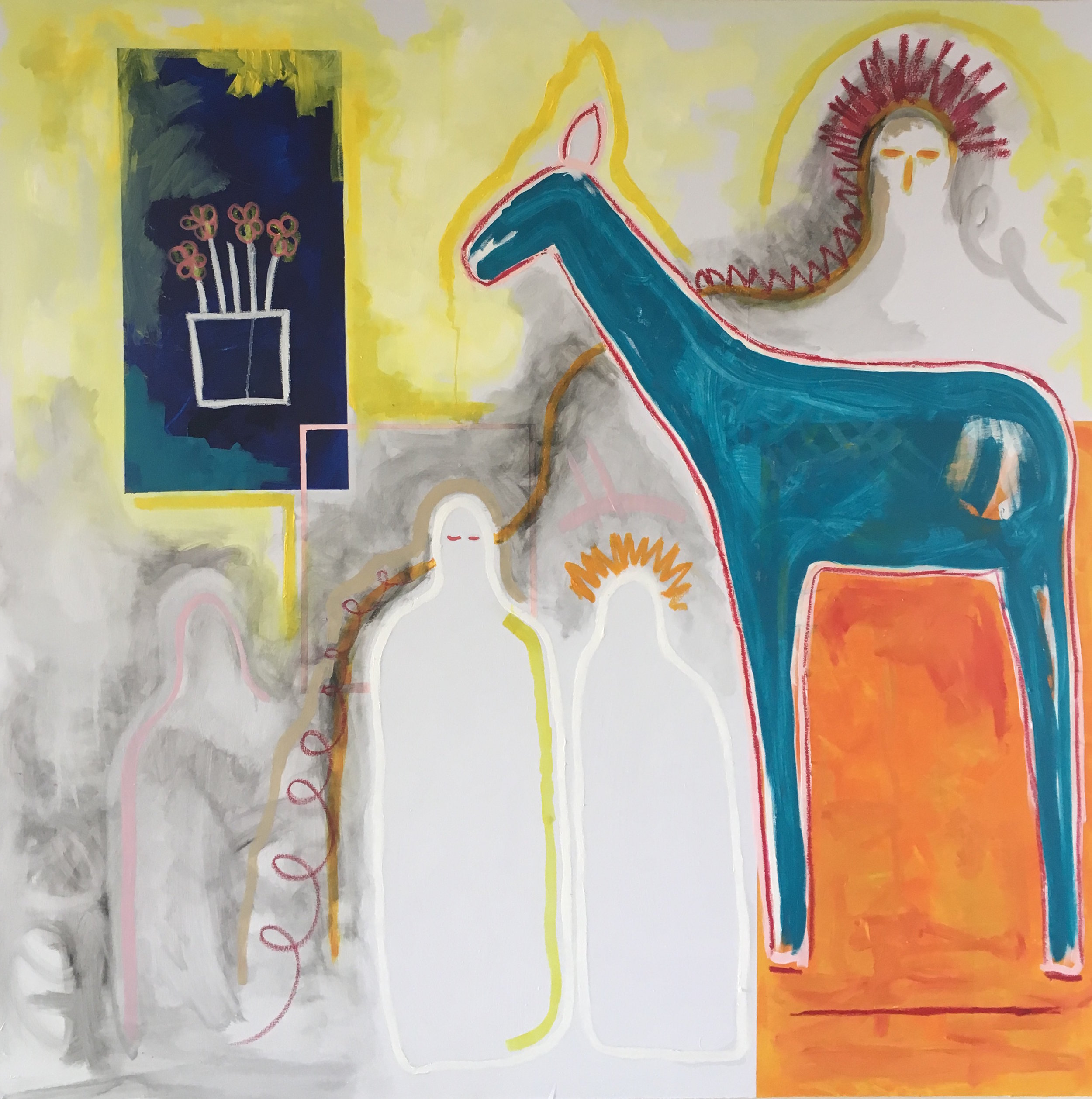 'It's Not a Camel', Oil and acrylic on canvas, 180x180cm