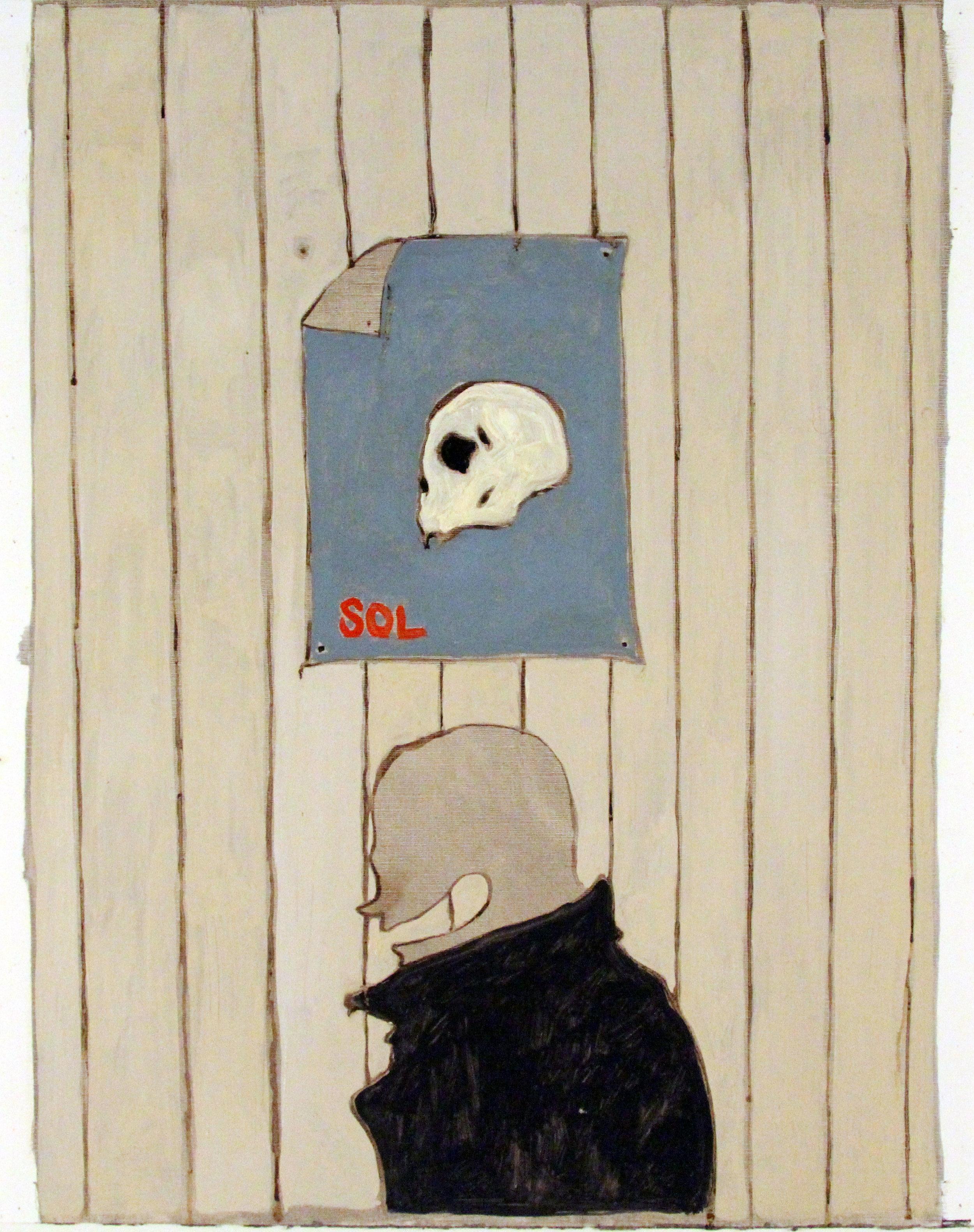 'Summer IV', Oil on paper, 50x40cm
