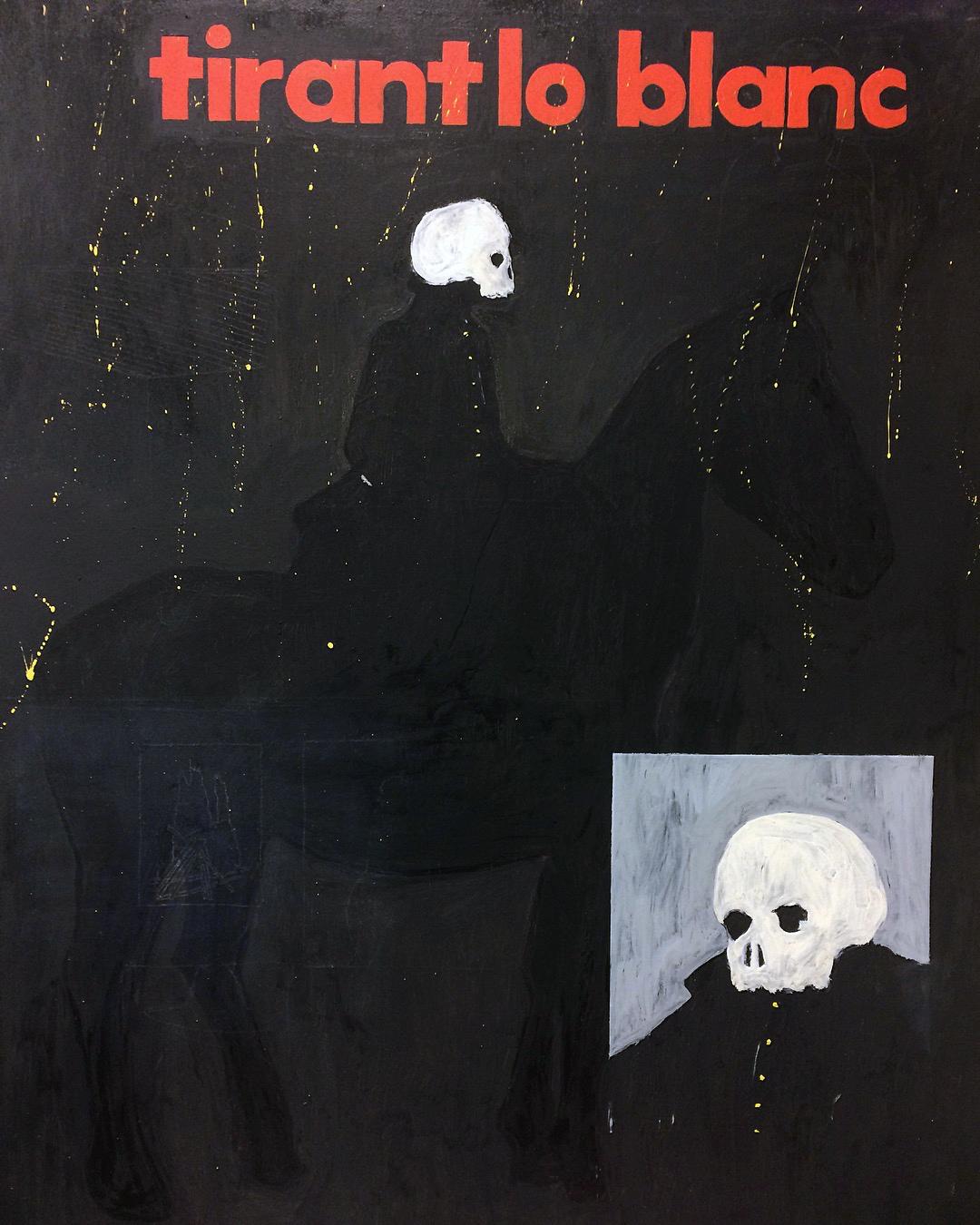 'Tirant lo Blanc', Oil on canvas, 152x117cm