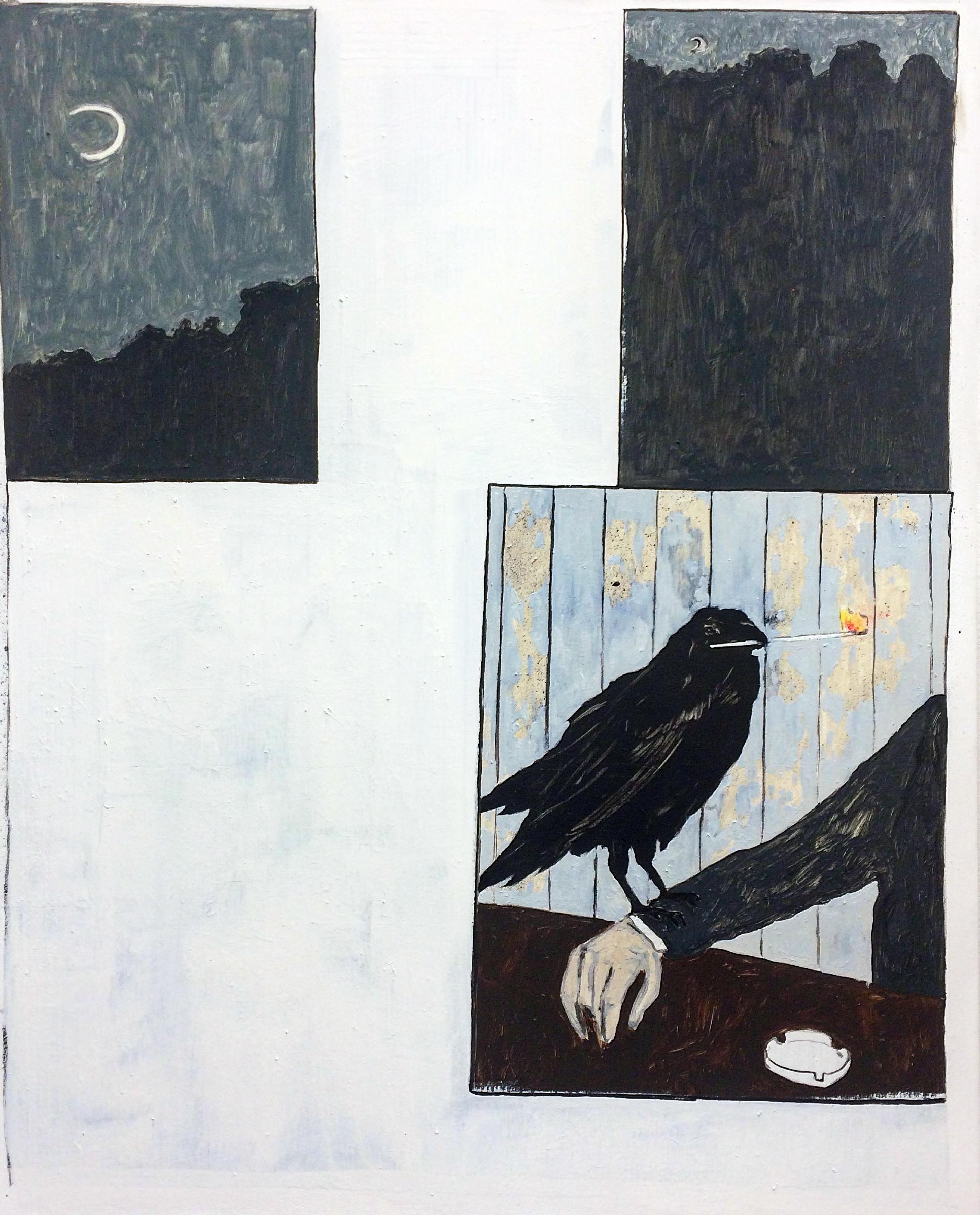 'Raven', Oil on canvas, 150x120cm