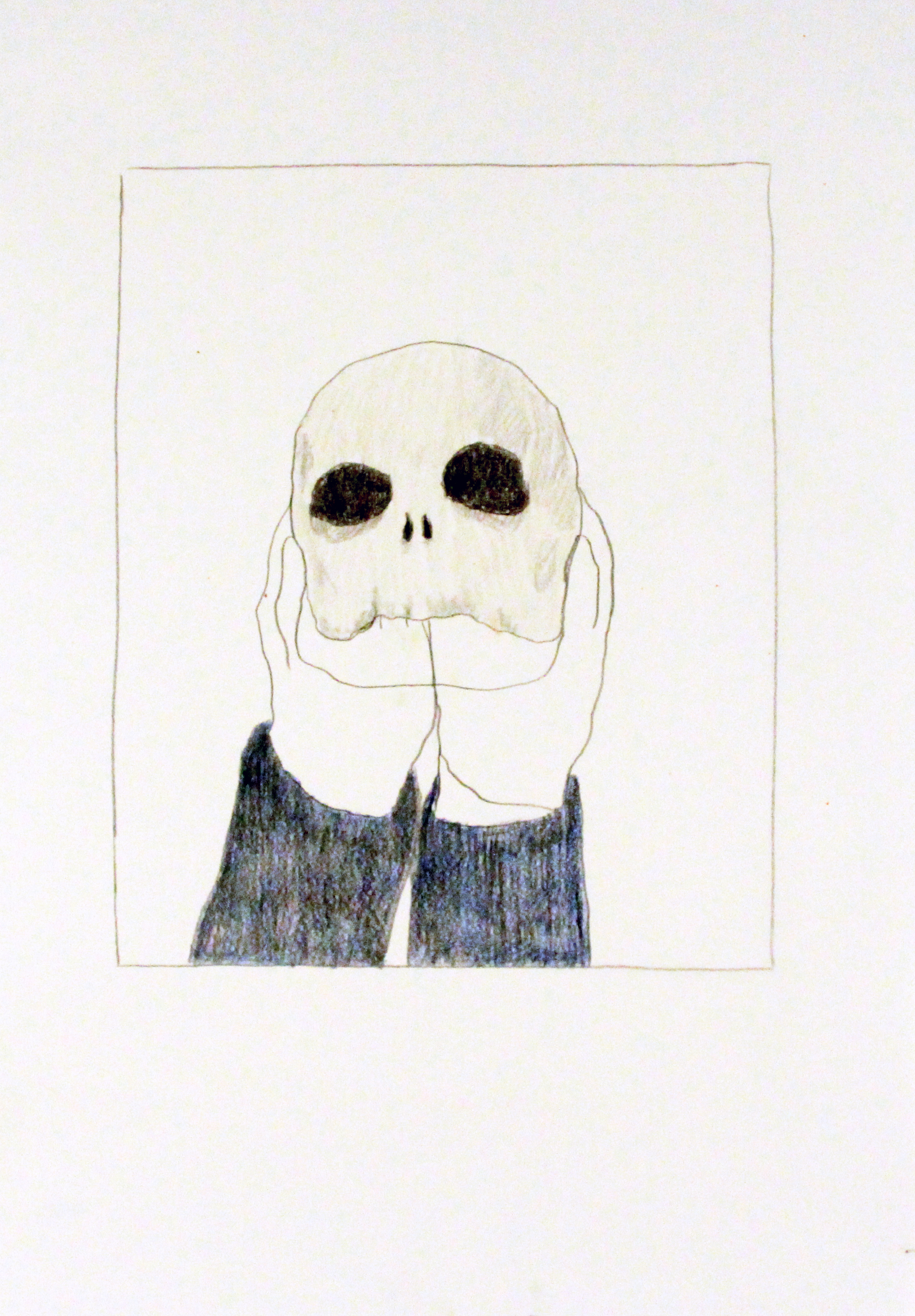 'Skull', Pencil on paper, 42x29cm