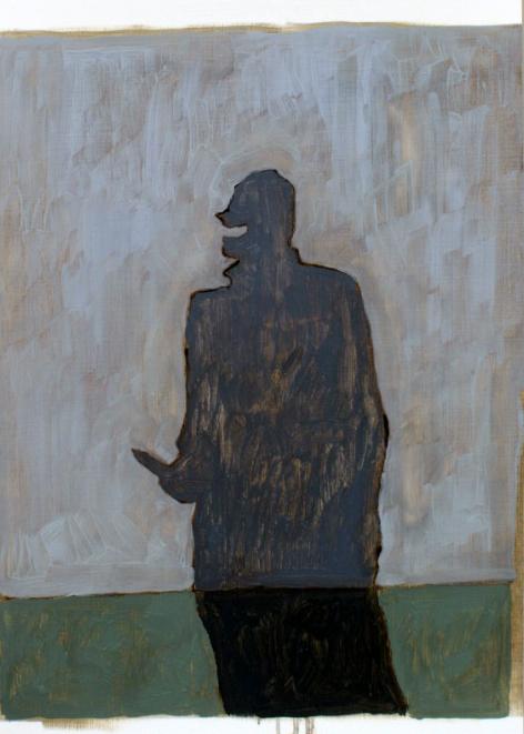 'Visitors IV', Oil on paper, 25x17cm