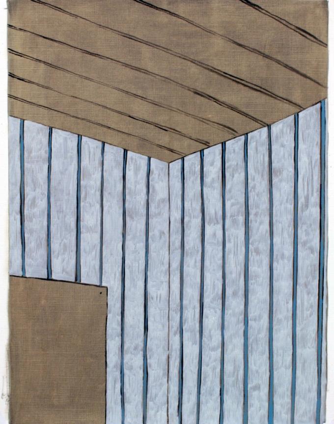 'Room I', Oil on paper, 50x40cm
