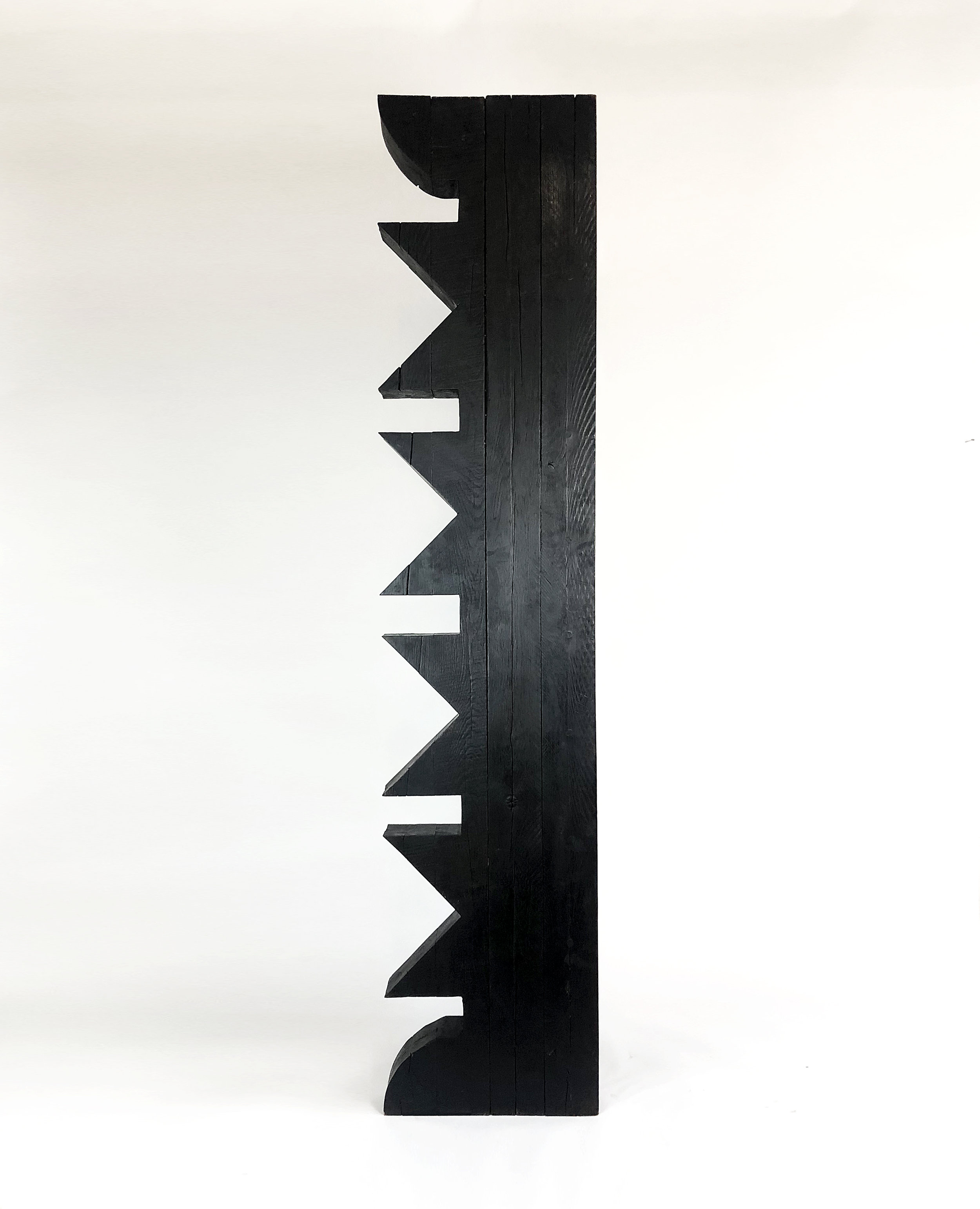 'Torr III', Burnt Oak finished with wax, 188x 40x40cm