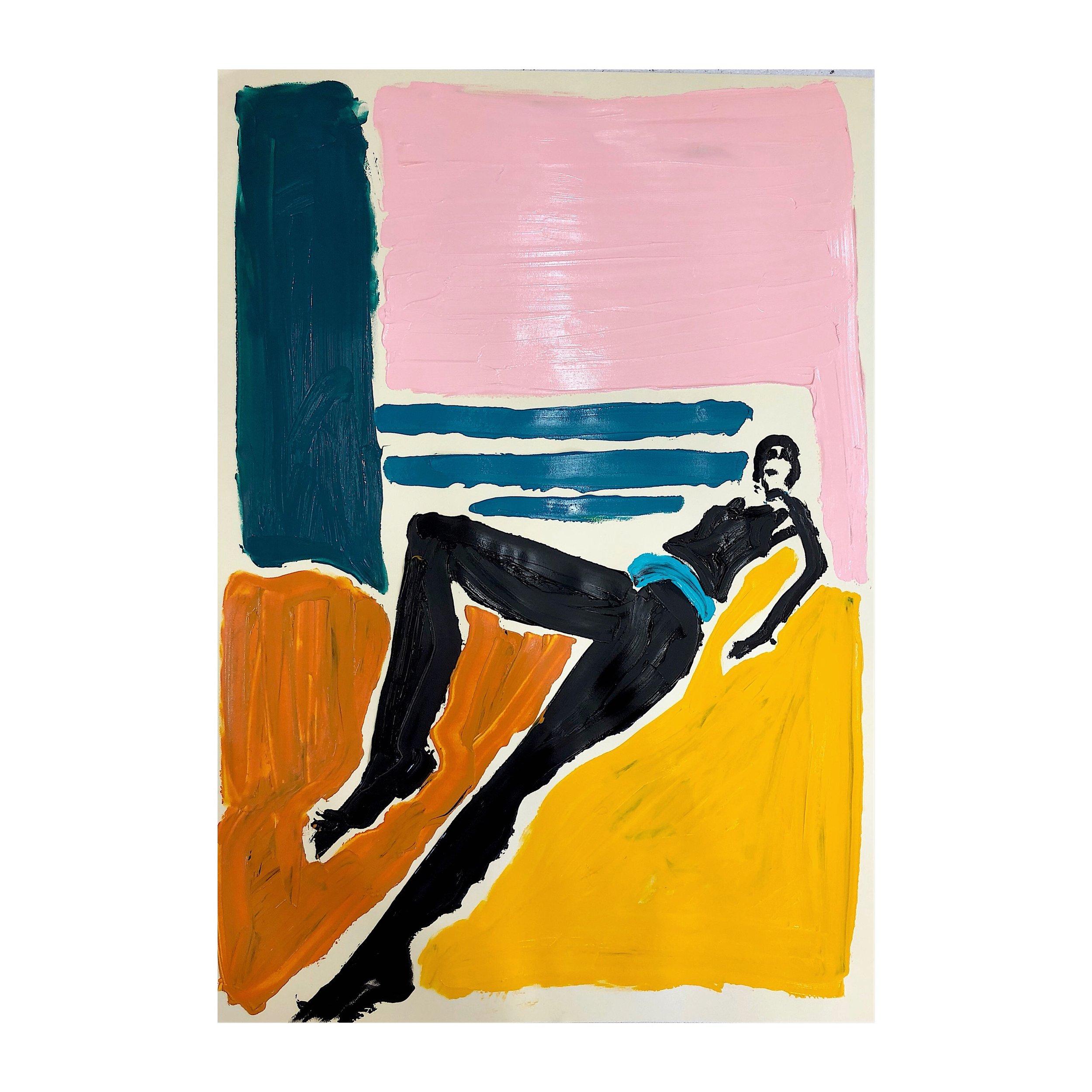 'Beach 2', Acrylic paint on paper, 84x58cm