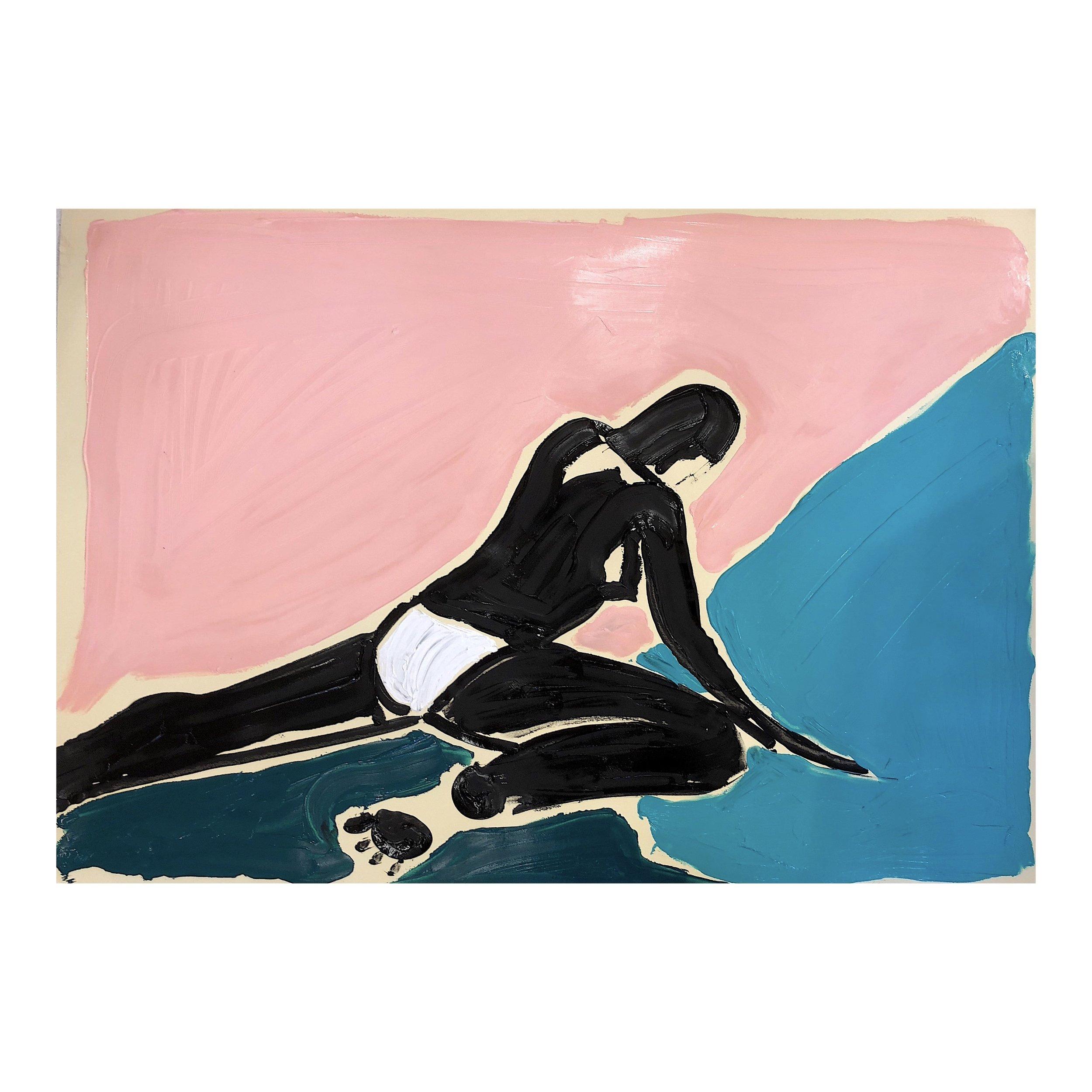 'Beach 3', Acrylic on paper, 58x84cm