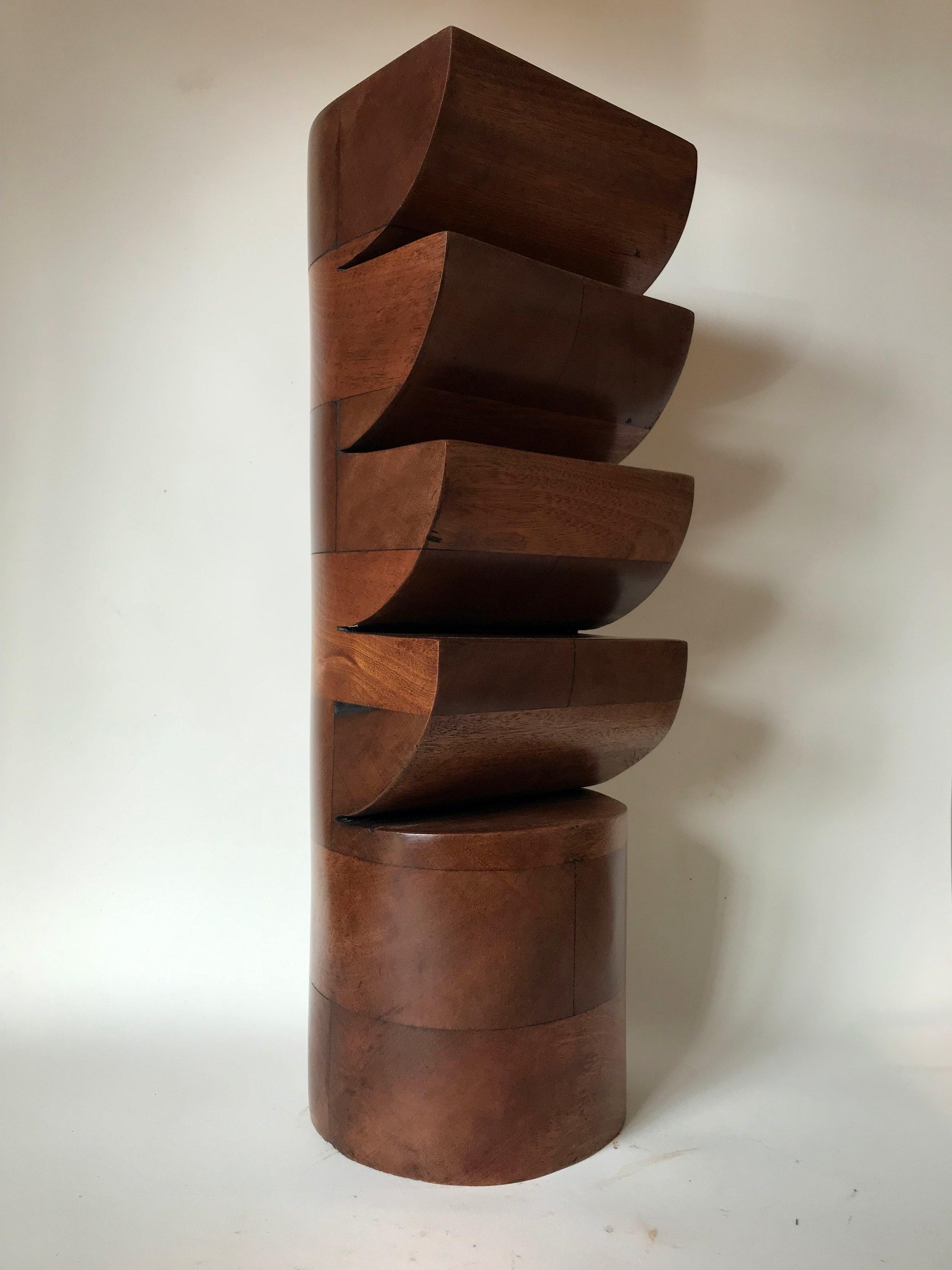 'Ladderback', Sapele wood, 14x14x42cm
