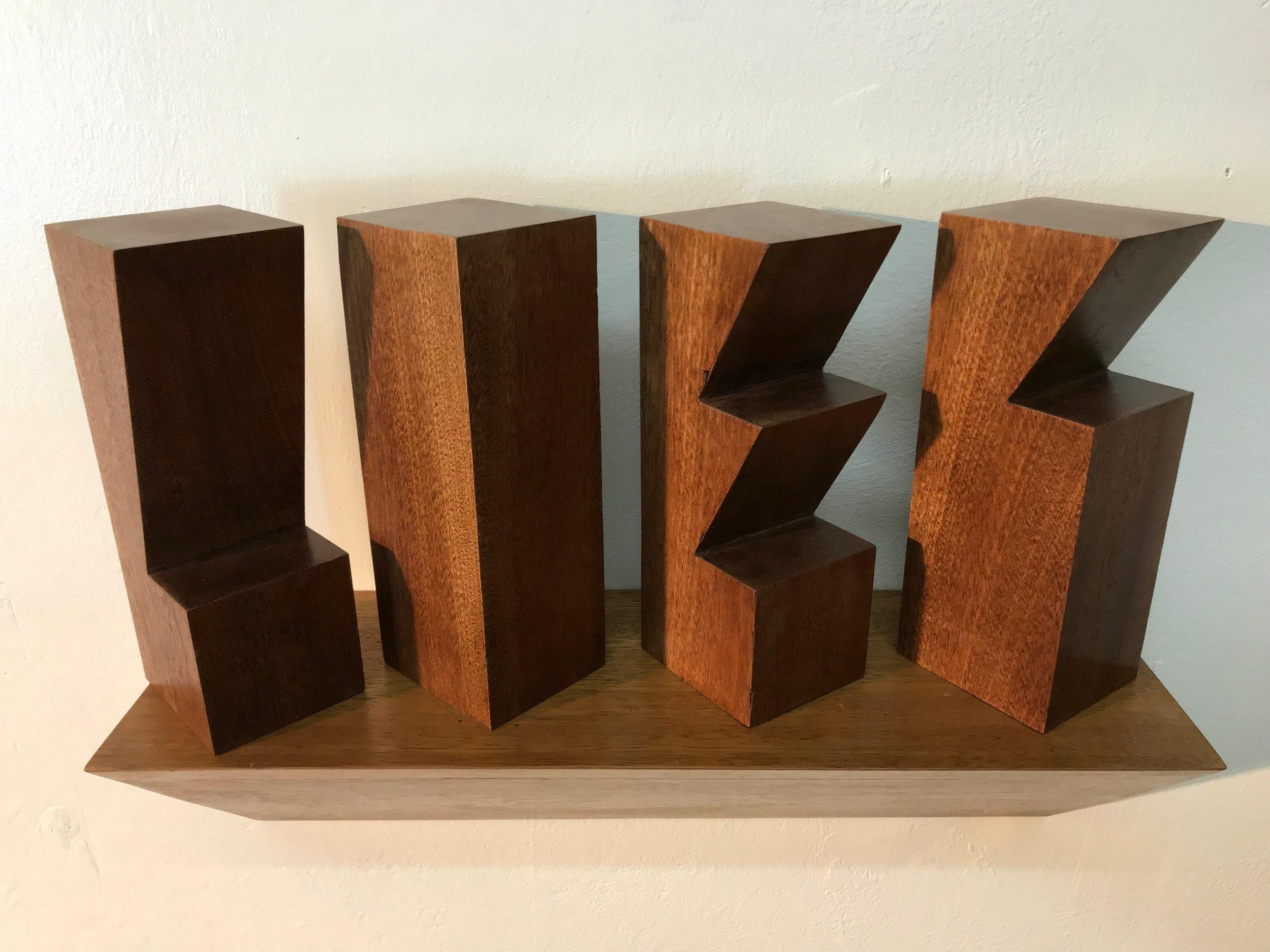'Overlook II', Sapele & Iroko wood, 40x33x12cm