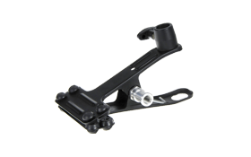 spring clamp:  Equipped with ball head to allow quick and easy attachment to available structures.