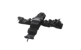 Body Harness  :  Used in conjunction with flat panel display / battery assemblies in body mount applications. Locking pin connectors interface to system components for a secure quick release connection. Supplied with harness extenders to fit larger individuals and those wearing body armour.