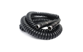 Coiled Cable (6m):  Extended length 6m (20') coiled connecting cable used to connect Wolf Pack system components in several configurations. Not suitable for use with LS-1d high intensity fiberoptic light source.