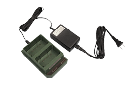 Desktop Charger:  Designed to recharge up to two AN-PRC-148 LI-ION cells.See  page  for more information.
