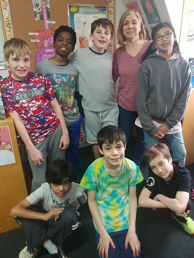 Ms. Ament with Class 5-2