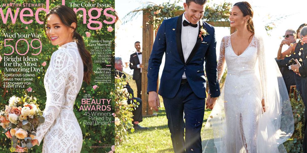 Jamie Chung via Martha Stewart Weddings