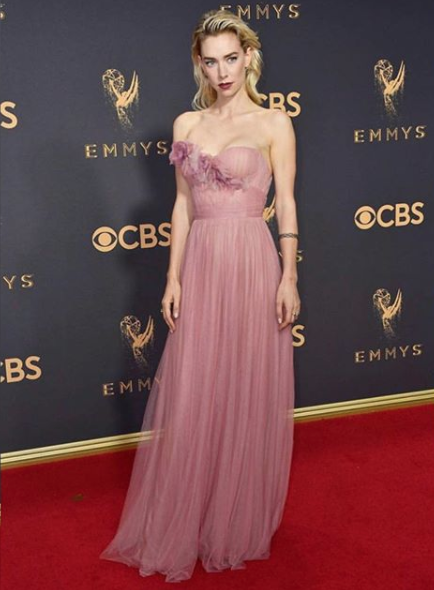 Vanessa Kirby of The Crown in Marchesa.
