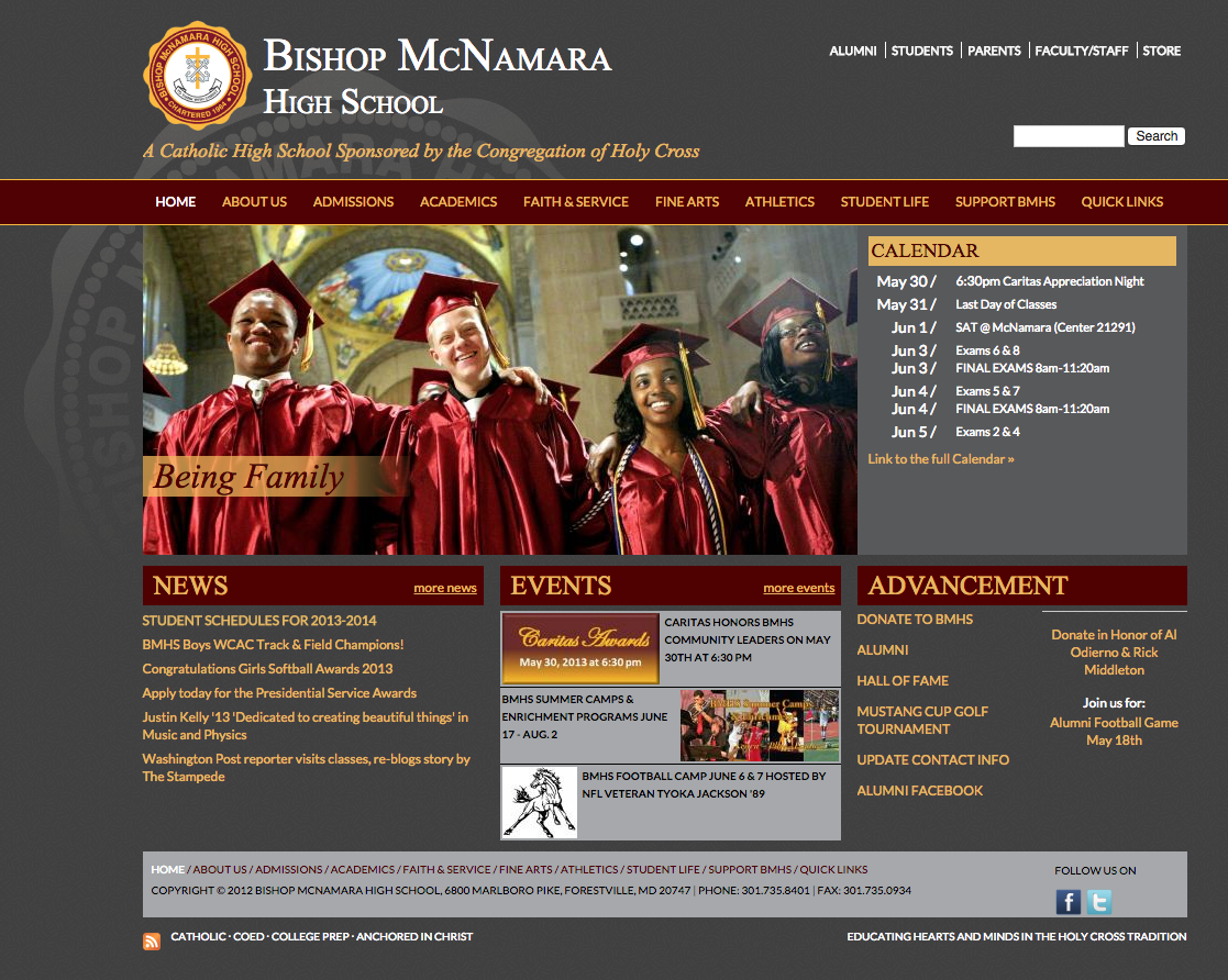 Former Homepage