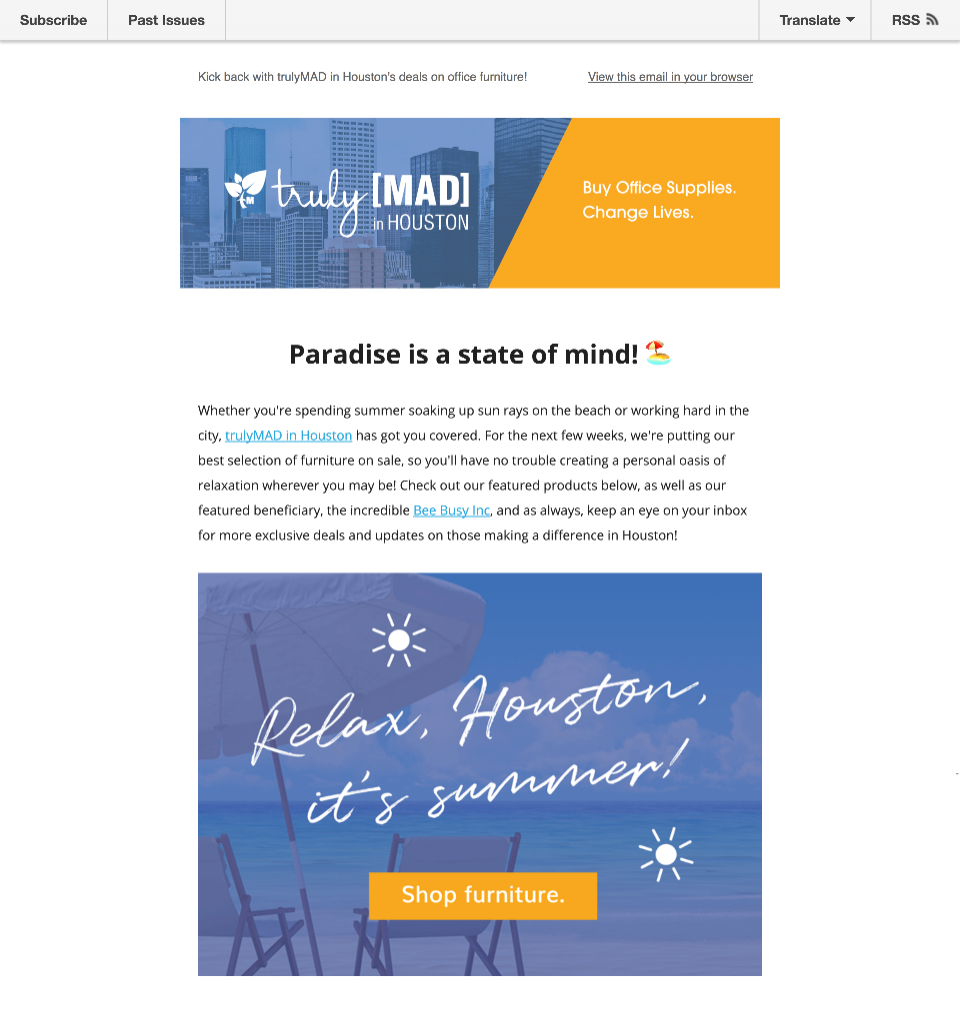 TrulyMAD Supplies Newsletters  Copywriting, Content Strategy