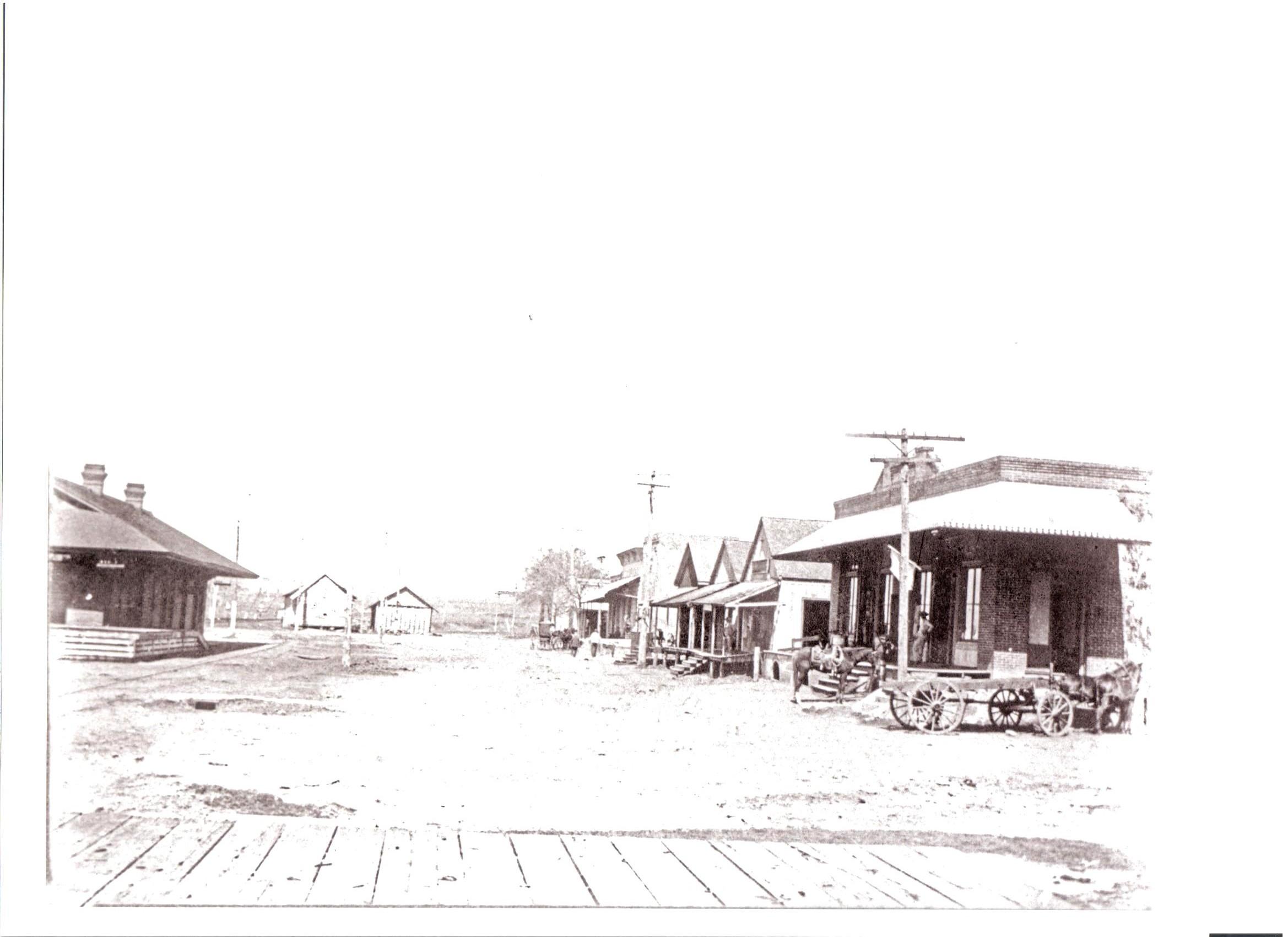 View of Railroad Street, Burton.