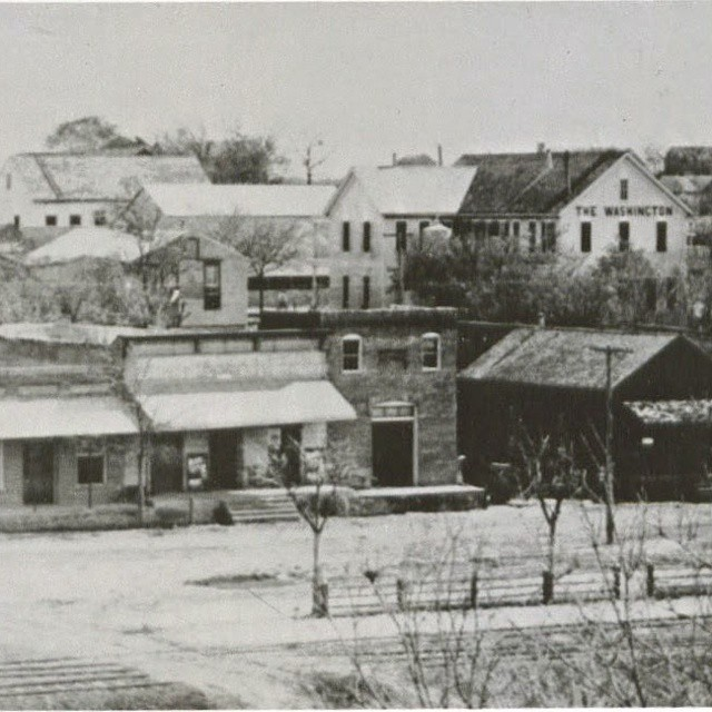 Another view of Railroad St. Burton, Texas circa 1900's, courtesy if History of Burton, Vol. 1,of 136. #Burtonheritage #secrettown #BringmetoBurton