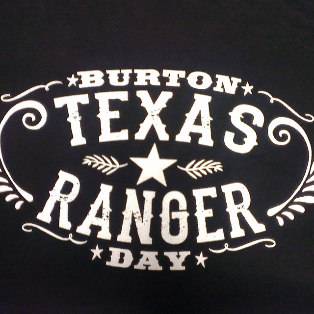 Get your Texas Ranger Day t-shirt!! Let us know if you would like one #TexasRangerDay #BringmetoBurton #Burtonheritage