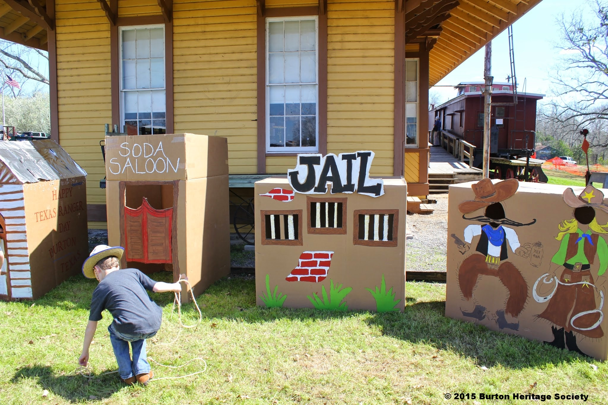 Come check out the jail in Lil' Rangerville or pose as a cowboy or cowgirl in our photo prop area!
