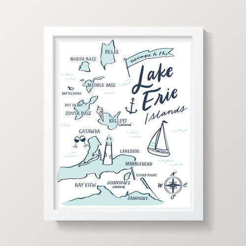 Lake Erie Islands Map Print - White — S Society Printable Map Of Erie on printable map of metro denver, printable map of anchorage, printable map of milwaukee, printable map of albany, printable map of greensboro, printable map of galatia, printable map of wichita, printable map of columbus, printable map of ann arbor, printable map of lake wallenpaupack, printable map of baton rouge, printable map of des moines, printable map of fort carson, printable map of greenville, printable map of quad cities, printable map of santa barbara, printable map of delaware water gap, printable map of lake of the ozarks, printable map of akron, printable map of salt lake city,