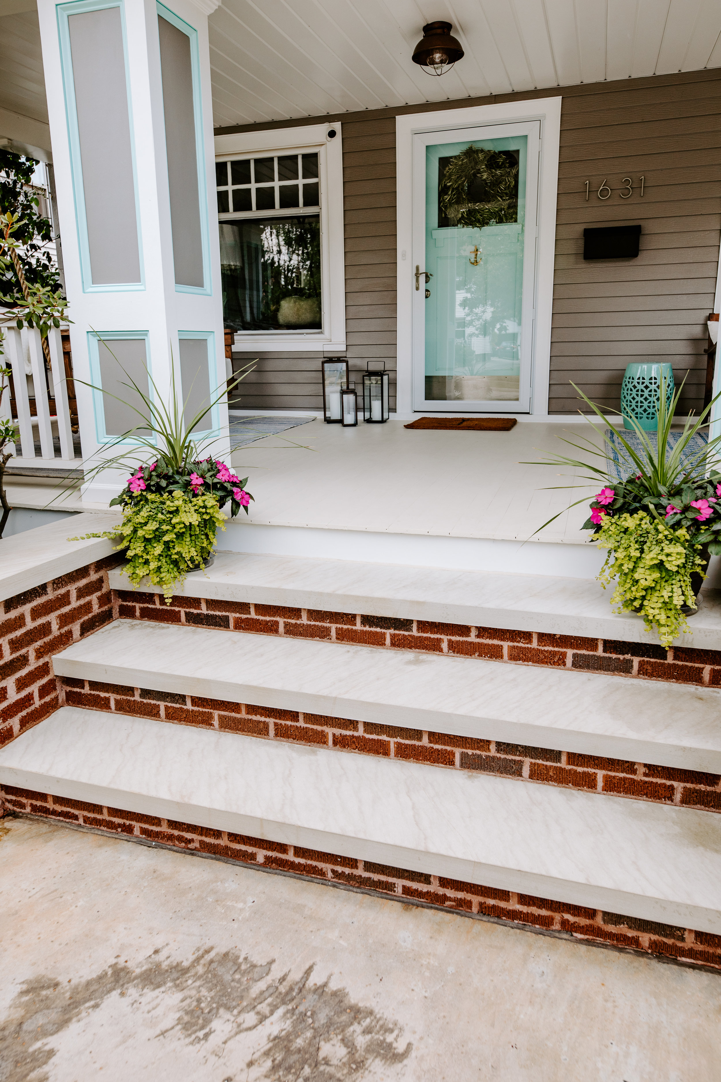 Brick and Sandstone Front Steps