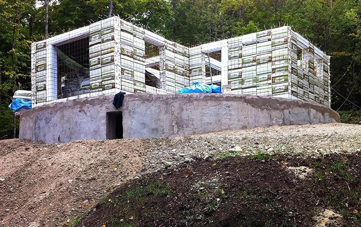 Bio-Cellulose Bale Construction built in Wakefield, QC
