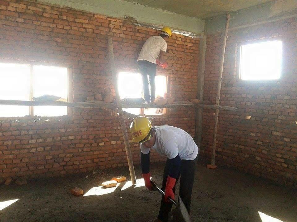 Reconstruction underway in Kaleswor!