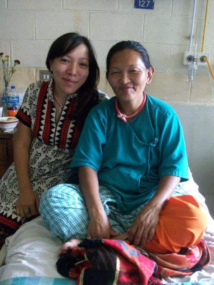 Haushala and Anil's Mom, Bishnu during her cancer treatments