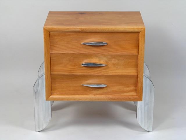 Three Drawer End Table