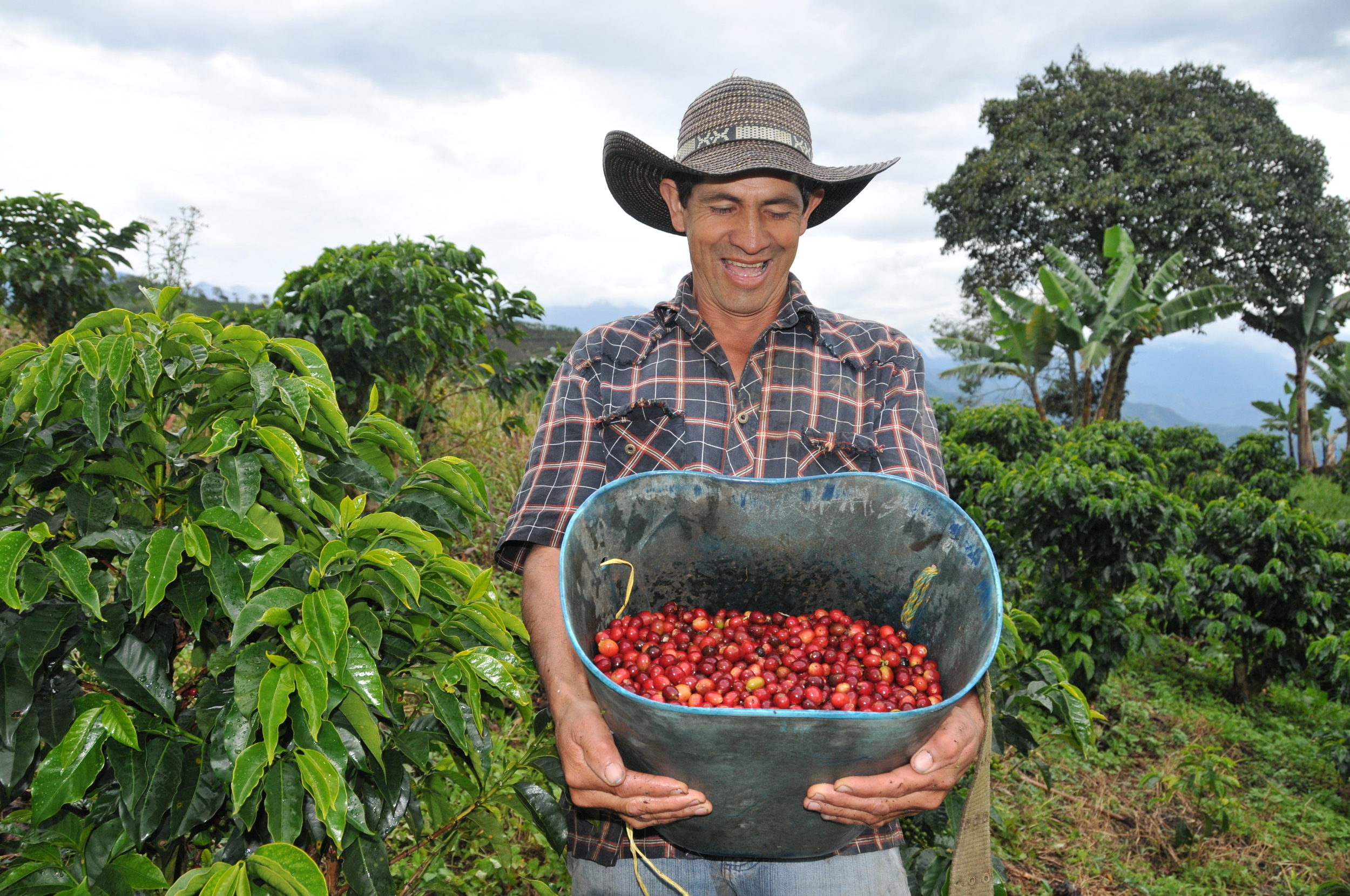 Jamie Martin, the face of Colombian coffee.